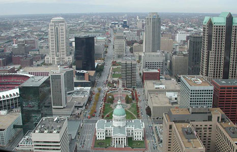View of the Old Courthouse from the Gateway Arch