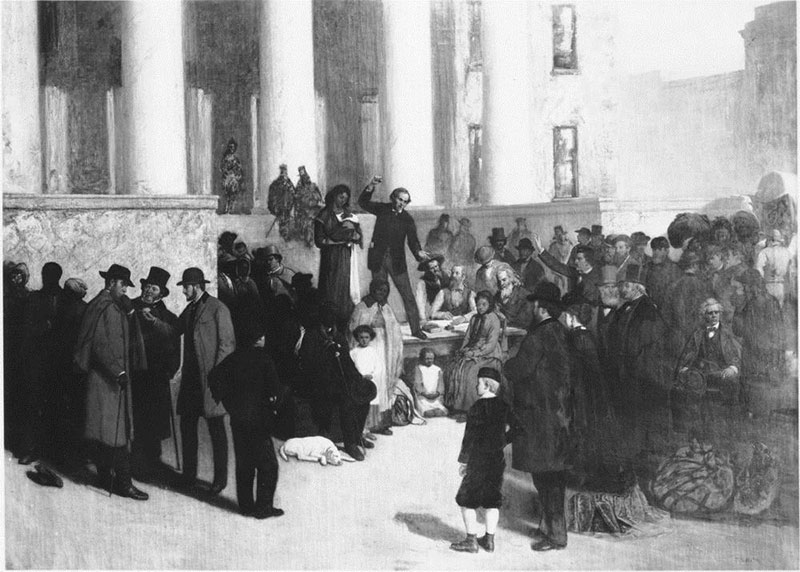 Painting of the Last Slave Sale